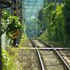 線路と陽炎