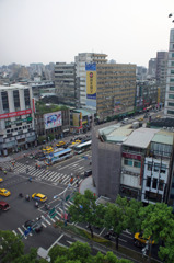 台湾のホテルから風景