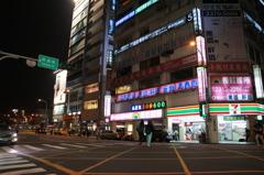台北夜の街