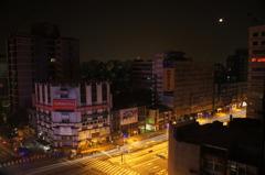 台湾のホテルから夜景