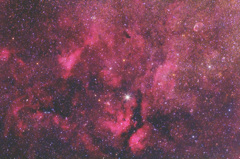 サドル周辺の散光星雲