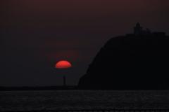 室蘭港の夕焼け -4