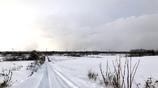 町はずれの雪景色