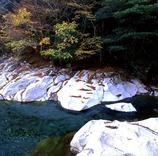 白い岩の渓谷