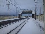 初雪が降った朝
