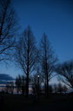 日没の手賀沼公園 如月