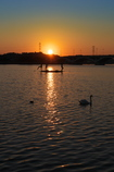 手賀沼の夕陽