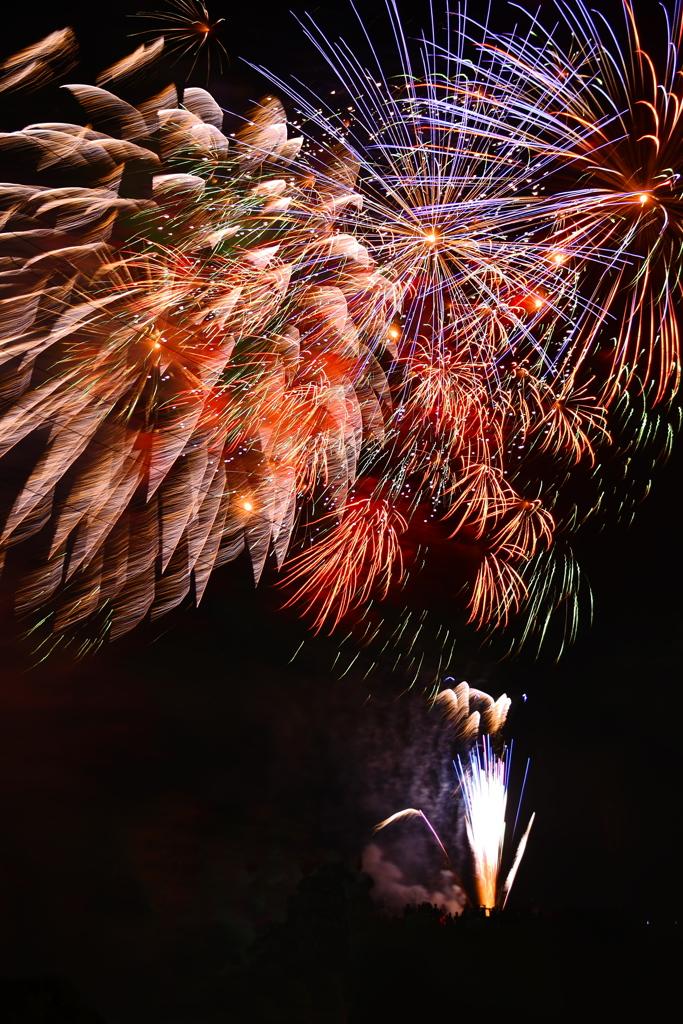 手賀沼の花火 ②