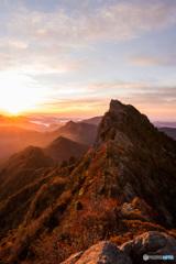 石鎚山の夜明け