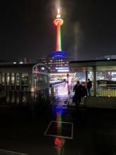 Towerのある風景〜eveの雨