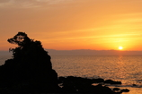 The Japanese setting sun.