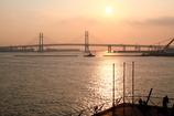 The morning sun of Yokohama