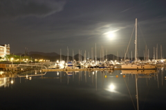 Harbor of the moonlit night