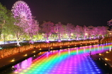 River of the rainbow color