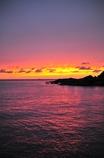 The flame sky purple sea