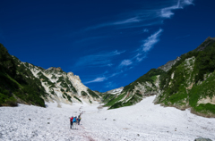 雪渓三景 −白馬大雪渓−