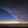 安曇野の夜明け