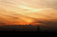 富士山の周りを放射状の雲が行き来する???