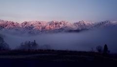 北後立山連峰の黎明