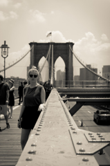 A girl on the bridge