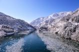 厳冬の庄川峡 航跡