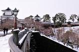 雪の石川門