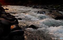 桂川の日暮れ
