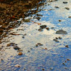 水様-136/水面境界の上と下の石たち
