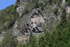 香落渓 ライオン岩