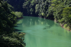 香落渓 ダム湖上流