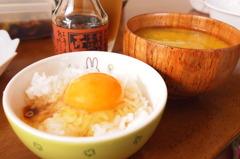 実家での朝ご飯