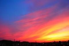 南の夕焼け
