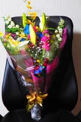 花束もらいました