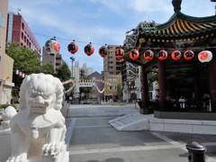 中華街の盆踊り会場