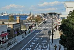 大桟橋への道