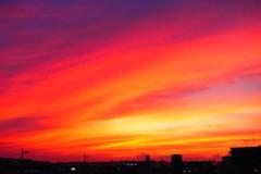 南西の夕焼け