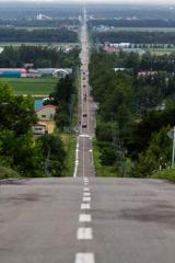 天に続く道@斜里町