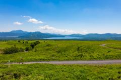 山中湖を望む風景