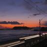 江の島の夕方