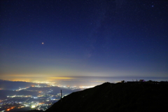 湖東の夜景