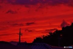 夕陽沈む時