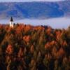 尖塔の見える風景
