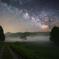 星明かりと夜霧の道