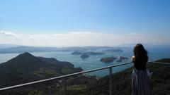 亀老山からの来島海峡大橋