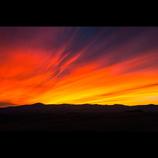 丘の夕焼け