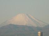 デジタルズームで富士山