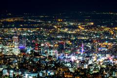 藻岩山からの札幌の夜景