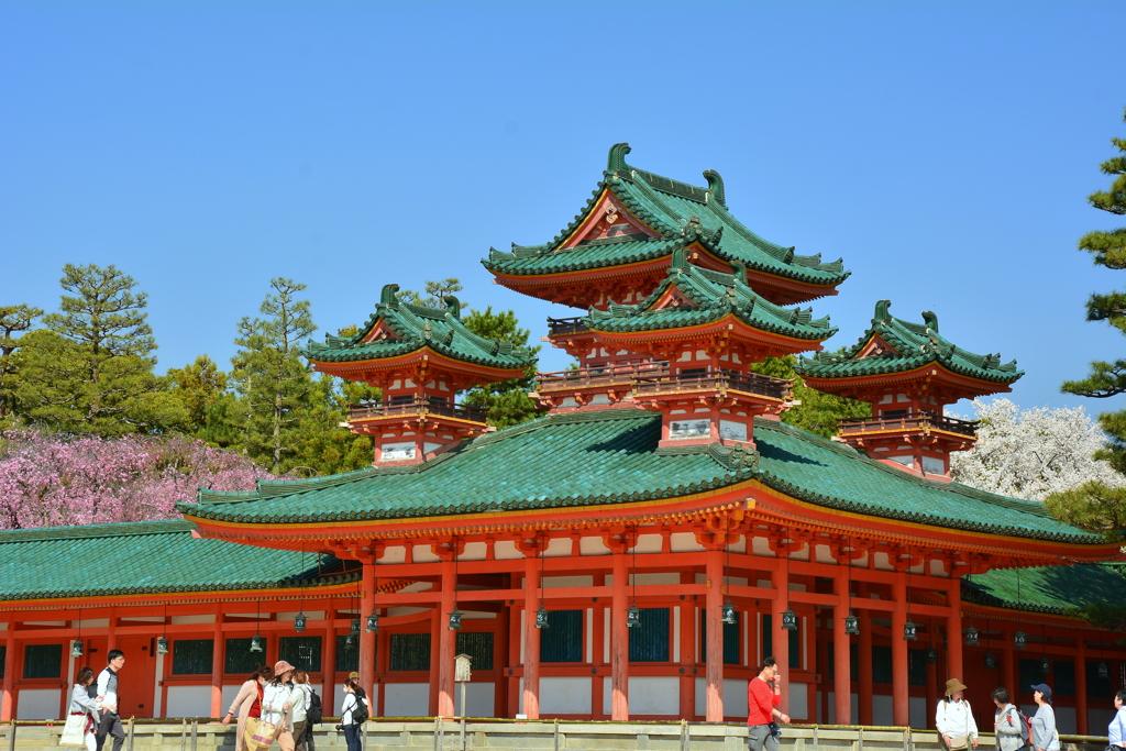平安神宮・蒼龍楼の桜2