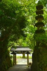 宇治興聖寺・石門と石塔