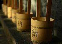 白雲神社の水桶